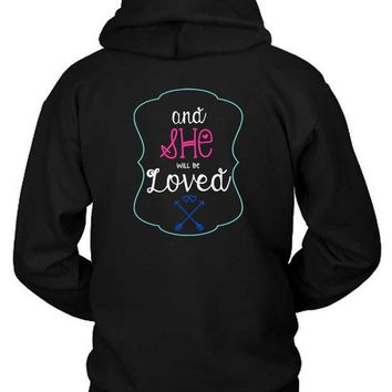 DCCKG72 Maroon 5 Adam Levine Quote And She Will Be Loved Hoodie Two Sided