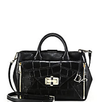 Diane von Furstenberg - 440 Gallery Secret Agent Crocodile-Embossed Leather Satchel - Saks Fifth Avenue Mobile