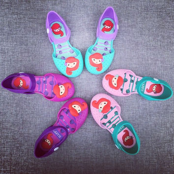 Little Mermaid Jelly Shoes