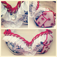 Queen of Hearts bra by WanderlustCouture on Etsy