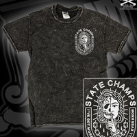 STATE-CHAMPS-SKULL-PIN-UP-TEE-ON-MINERAL-BLACK
