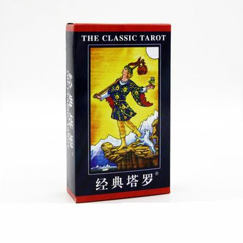 Family Friends party Board game Full English radiant rider wait tarot cards factory made high quality tarot card with colorful box, cards game,  AT_41_3