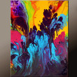 Abstract Art Painting on Canvas - 18x24 Contemporary Original Paintings by Destiny Womack - dWo - The Way To Heaven