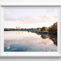 Cloudy River, Photography, Lake, Photo, Print, Waterscape, Fine Art, Horizontal, View, Cloudy, Sky, Wall Decor, Home, Room, photograph