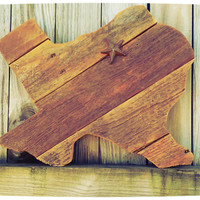 Stained Texas Wood Wall Art