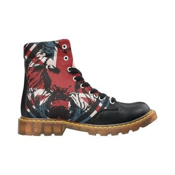 Union Jack Lion Black Mens Boots The Original