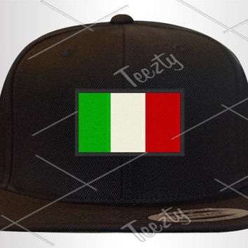 Italian Flag Snapbacks Snapback Italia Italian Hats Hat Caps Cap Custom Italian Snapbacks Forza Italia Country Flags Countries