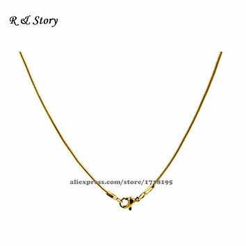 Gold Filled Square Snake Chain Necklace/ Finished Chain LFH_023