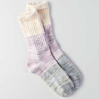 AEO Colorblock Crew Socks, Purple