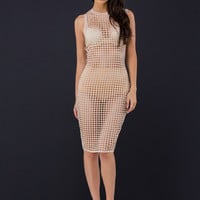 It's All Grid Cut-Out Bodycon Dress
