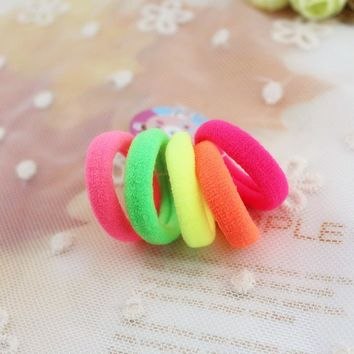 50 pcs/pack 3cm Candy Colour Basic Rubber Band Children Kids Elastic Hair Band Baby Girls Hair Rope Accessories