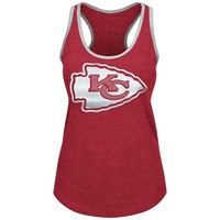 Majestic Kansas City Chiefs Tip Toe Completion Tank Top - Women's, Size: