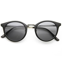 Classic Vintage Inspired P3 Horned Rim Round Sunglasses 9618
