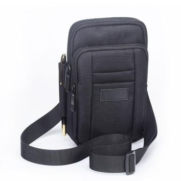 Multipurpose Nylon Cell Phone Pouch Cross body Purse Small Messager Travel Bag Belt Clip Holster Waist Pack