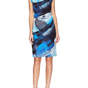 Escada Women's Deepika Printed Dress - Blue -