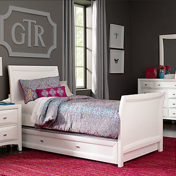 Ivy League White 6 Pc Full Sleigh Bedroom - Bedroom Sets White