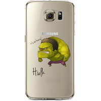The Hulk Jelly Clear Case for Samsung Galaxy S7