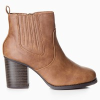 Brown-Tall-Ankle-Boot