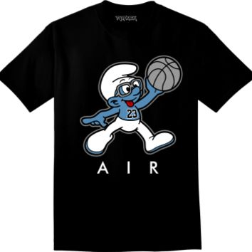Jordan 3 Powder Blue Shirt - Air Smurf - Black