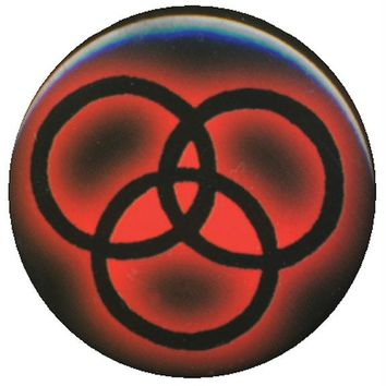 Led Zeppelin - Rings Symbol Button