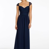 Hot&Sale Sweetheart Long Dark Navy Lace Cap Sleeve Bridesmaid Dresses 2014 Sexy Backless Floor Length Party Gown Vestidos-in Bridesmaid Dresses from Apparel & Accessories on Aliexpress.com