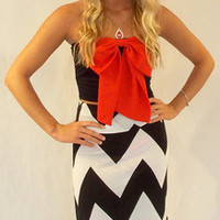 Gameday Bow Top - Haute Pink Boutique