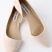 Audriana Natural Suede Leather D'Orsay Flats