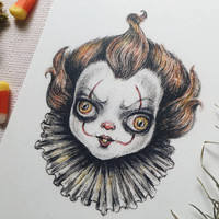 Pennywise 5x7 art print