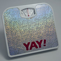 Yay! You Yay! Scale (silver) : VoluptuArt - Art & Gifts for Celebrating Your Body!