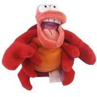"Disney Exclusive Little Mermaid Mini Bean Bag Plush - SEBASTIAN the Crab 8"" L"
