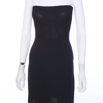 ST JOHN By Marie Gray Black Strapless Knit Dress for Neiman Marcus Size Small