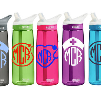 Nursing CamelBak 0.75 Eddy Personalized Monogram Nurse Water Bottle Sports bottles Name water bottle Gift