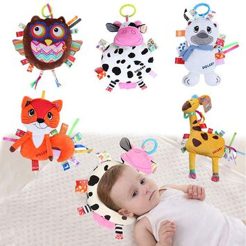 Lovely Baby Appease Pillow Rattles Crib Stroller Hanging Stuffed Animal Plush Puppet Accompany Infant Early Development Toy