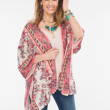 Chico's Paisley Floral Ruana