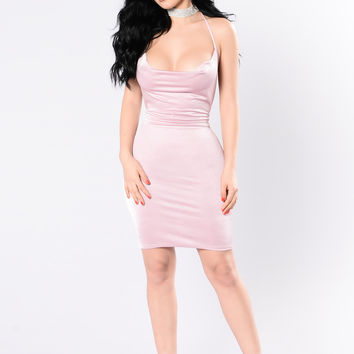 Your Drape Goals Dress - Rose