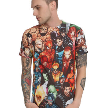 Marvel Civil War Files Sublimation T-Shirt