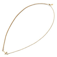 Alex and Ani Cross Pull Chain Necklace 14kt Gold Plated