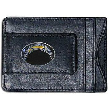 San Diego Chargers NFL Football Team Leather Card Holder Money Clip Wallet