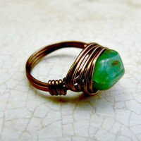 Peruvian Opal Wire Wrapped Ring