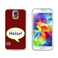 Hello Comic Talk Bubble Galaxy S5 Case