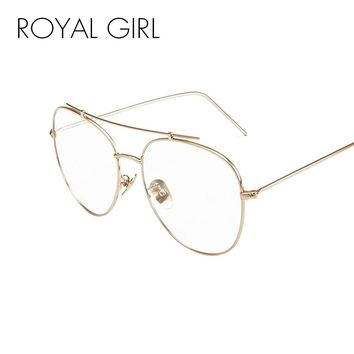 ROYAL GIRL Women Eyeglasses Classic Brand Metal Cool Sun Glasses Clear lens Alloy Legs Eyeware SS931-1