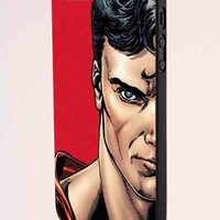Superman And Wonder Woman Face Couple Left iPhone 5 Case