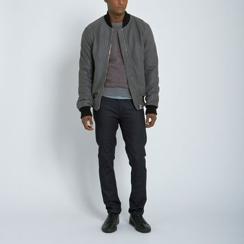 Nahariya Shearling Bomber Jacket in Grey