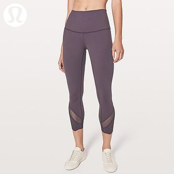 Lululemon Women Fashion Yoga Stretch Sport Pants Trousers
