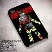 Ant Man Comic Silhouette - For iPhone 4/ 4S/ 5/ 5S/ 5SE/ 5C/ 6/ 6S/ 6 PLUS/ 6S PLUS/ 7/ 7 PLUS Case And Samsung Galaxy Case
