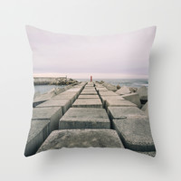 The seawall Throw Pillow by Architect´s Eye | Society6