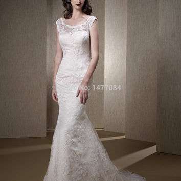 Vintage A Line Princess Wedding Dresses 2015 Lace Covered Top Bridal Gowns for Women 2015 New Arrival
