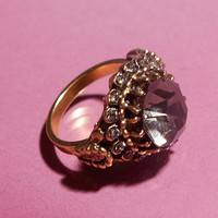 Palace Crystal Cocktail Ring - Urban Outfitters