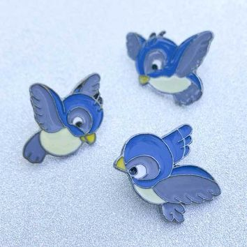 Cinderella Birds 3 piece Enamel Pin set