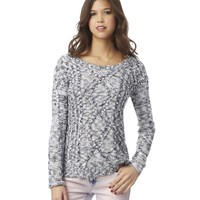 Marled Cable Sweater
